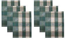 Betz Lot de 6 torchons en lin mélangé HUNGARY à motif CUISINE taille: 50x70 cm