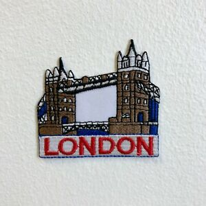 Famous London Tower Bridge Iron Sew on Embroidered Patch