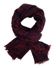 Bufanda Hombre Rojo Burdeos Negro de Ella Jonte Viscosa Winter Suave