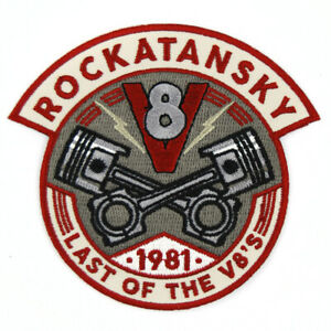 Mad Max Patch Rockatansky Last Of The V8s 1981 Retro Embroidered