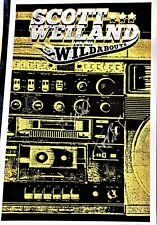 Scott Weiland and the Wildabouts Autographed S/N Rare plus Venue Poster 2015