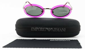 Emporio Armani Sunglasses EA 9090 Pm6 44-25 130 Oval Crazy Sun Pink Silver