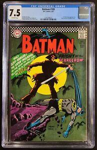 Batman #189 CGC 7.5 OW 1st SA Appearance SCARECROW DC Comics 1967