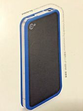 Griffin Reveal Blue Bumper Style ultra-slim frame case for iPhone 4 4s