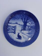 1971 Royal Copenhagen Christmas Plate1st Quality Danish Porcelain Hare In Winter