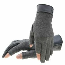 Winter Men Mitten 2 Fingers Exposed Keep Warm Touch Screen Windproof Thin Gloves