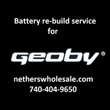 Rebuild service for Geoby E-Bike 36 volt 9 A/H Battery rebuilt to 10 A/H