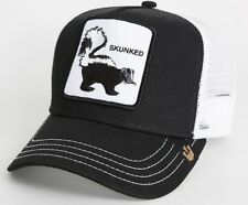 New Goorin Bros. Skunked Animal Farm Trucker Snapback Hat Cap Black Skunk Weed