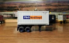 ATHEARN RTR 20' P&O CHASSIS & 20' P&O REEFER CONTAINER POCZ PONU