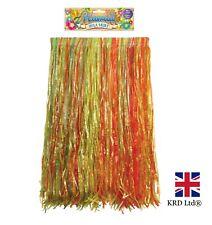 Hawaiian Grass Hula Skirt Long Fancy Dress Luau Summer Beach Natural 80cm UK