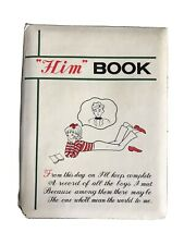 """Vintage """"Him� Dating Book Collectible Antique Journal"""