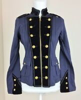 Denim & Supply Ralph Lauren Women Military Army Officer Jacket Coat S M L XL