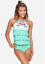 5737732d17 NWT Justice Girls Unicorn High Neck Tiered Tankini Size 7 8 10 12 14 16 18