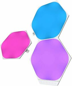 Nanoleaf Shapes Hexagons Expansion Pack - 3 Multicolor Light Panels