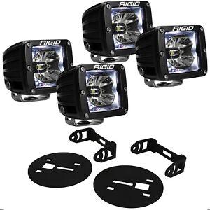 Rigid Radiance LED Fog Light Kit w/ White Backlight for Chevy Silverdo 2500 3500