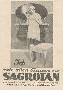 Y6142 Sagrotan - Advertising D'Epoca - 1925 Old Advertising