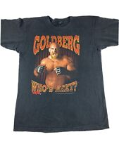 VTG 1998 WCW Goldberg Whos Next ? Wrestling T Shirt Size Men's Sz L  (209)
