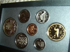 1990 Canada Proof Double Dollar Set (7 Coins Cent to Silver Dollar Mint Set)