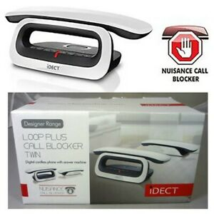 iDECT Loop Cordless Telephone with Answer Machine - Twin | Nuisance Call Blocker