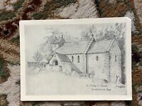 H5-1 postcard unused st michael's church duntisbourne rous