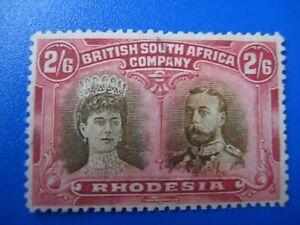 RHODESIA 1910. 2/6D USED. SG156 SEPIA & DEEP CRIMSON
