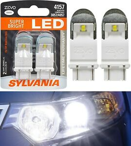 Sylvania ZEVO LED Light 4157 White 6000K Two Bulbs Rear Turn Signal Replacement