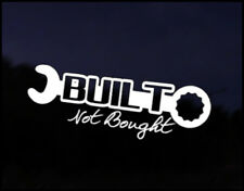 Built not bought Car JDM Funny Car Decal Euro Drift VAG VW DUB Vinyl Sticker