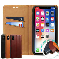 For Apple iPhone X XR XS Max Case Leather Wallet Card Slots Holder Stand Cover