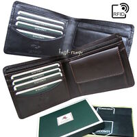 Mens Small Wallet Soft Leather Bifold RFID Quality Visconti New in Box HT7