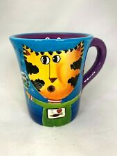 Naylor Designs Mug Cat and Dandelion Hand Painted Coffee Tea Cup