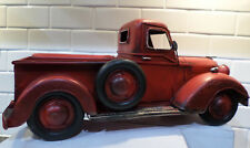 RED METAL VINTAGE OLD STYLE TRUCK HOME DECOR MANCAVE DECORATE FOR HOLIDAYS NEW