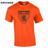439 Holland flag Mens T-Shirt funny country Netherlands cool futbol soccer