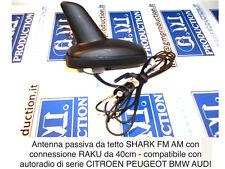 ANTENA SHARK PASIVO AM FM CABLE 40 CM conexión RAKU BMW PEUGEOT CITROËN VW