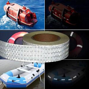 25 Meter Roll Reflective Tape Vehicle Truck Bike Boat Safety Hi-Vis 50mm Wide