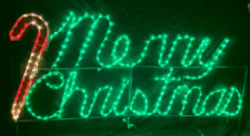 Christmas Lighted Sign.Merry Christmas Light Sign In Outdoor Garden Christmas