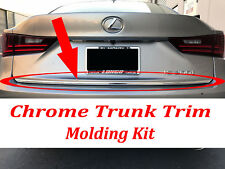 For Fiat 2009-2018 Chrome Silver Rear Trunk Trim Molding Kit Accent