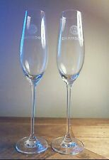 REDUCED LIMITED EDITION 6 Champagne Flutes & 12 Flamingo Gold Stirrers
