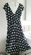 LONG TALL SALLY Blue & White Polka Dot Dress - Size 14