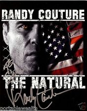 RANDY COUTURE Hand Signed 8 x 10 Color Photo. Signed to Steve. Authentic
