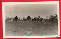 RPPC CEMETERY WITH A MAUSOLEUM REAL PHOTO POSTCARD