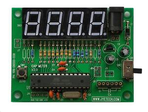 JYETech 06002 Capacitance Meter, Fully Assembled; Low-Cost AVR Tool Cap Tool USA