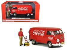 Coca Cola1963 Volkswagen Type 2 Cargo Van w/ driver & Cart 424062 1:24