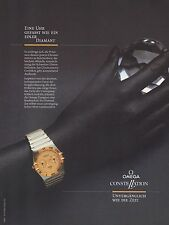 Publicité Montre Omega  montres  Watch photo vintage print ad  1985 - 3h
