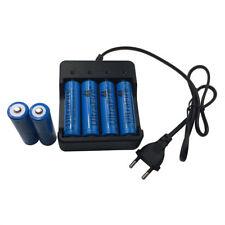 6X 18650 3.7V 5000mAh Li-ion Rechargeable Battery&4.2V EU Plug 4 Slots Charger