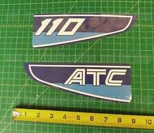 1982 82' ATC 110 Rear fender trike decals vintage ATV 2pc stickers graphics