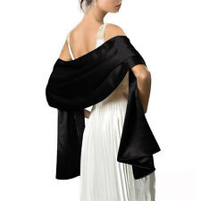 Silky Satin Ladies Bridal Bridesmaid Wedding/Prom/Scarf/Shawl/Stole/Wrap/Bolero