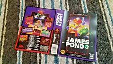 BOX ART ONLY James Pond 3 III Original Sega Genesis Case Sleeve