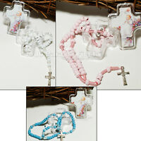 Baptism Favors Rosary BoyGirl Baptism Party Supply Cross Bautizo Recuerdo Cruz12