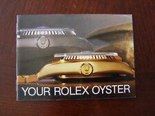 Vintage 1985 Genuine Rolex Oyster Booklet