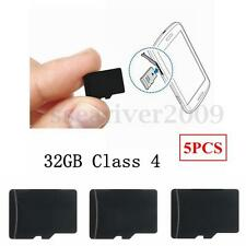 5Pcs 32GB Micro SD/TF Flash Memory Storage Card Adapter Class 4 For Smart Phone
